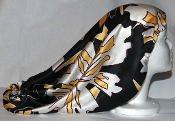 Charmeuse Silk Sleep Cap Adjustable [Black, White, Yellow] 20""