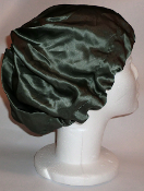 Charmeuse Silk Sleep Cap Adjustable (Green/Grey/Blue)